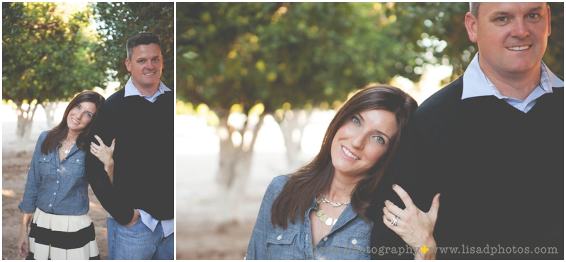 Couple photography session in the Orange Groves | Lisa d. Photography | Orange Grove Family Session
