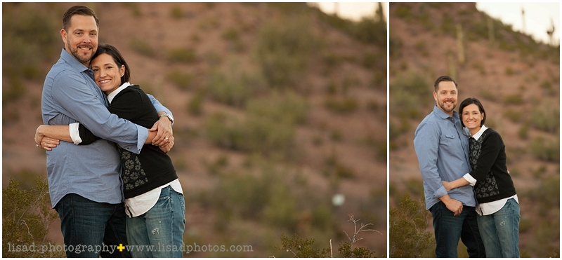 This adorable family's photography session took place at Papago Park in Tempe | Lisa d. Photography