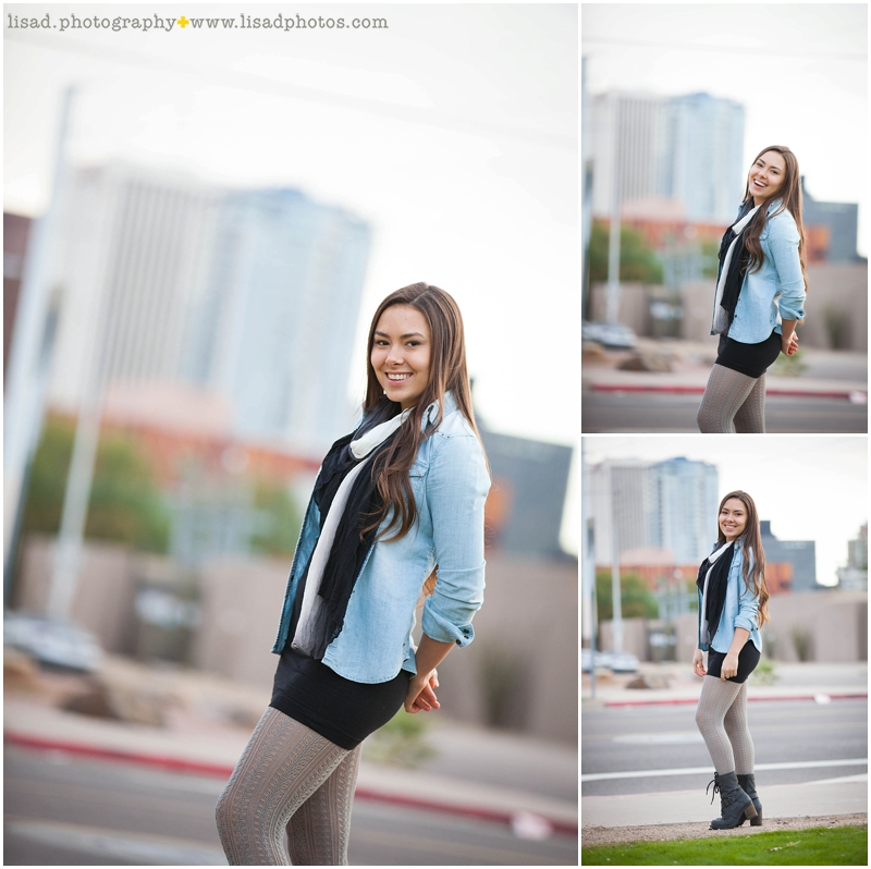 Phoenix Senior Photographer | downtown Phoenix senior girl | Saguaro High School