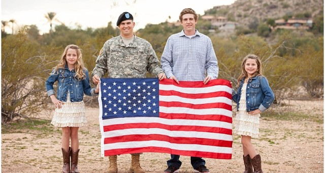 Military Family Photography | Paradise Valley Photographer