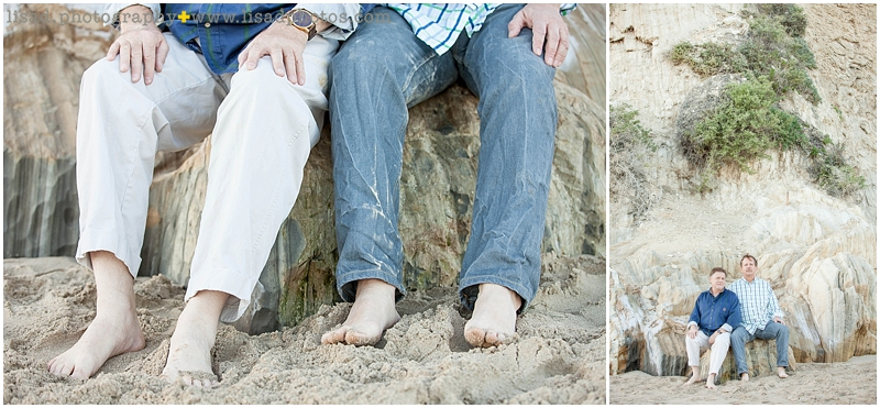 Anniversary photo session | same sex couple photography | malibu beach photo session
