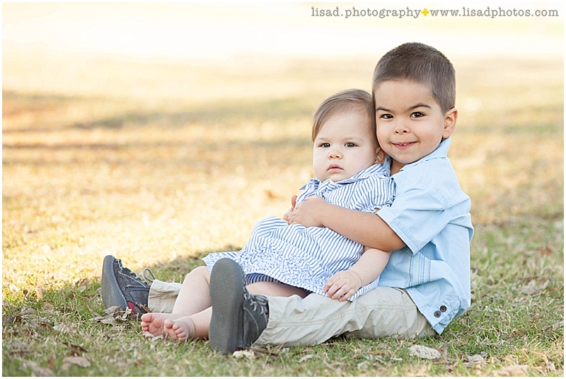 First Birthday at Encanto Park | Phoenix Family Photographer | siblings