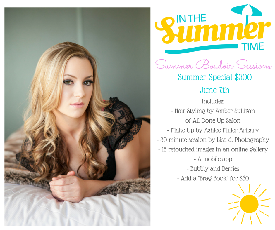 Summer Scottsdale Boudoir Photography Sessions | Hair by All Done Up Salon | Make up by Ashlee Miller Artistry | Photography by Lisa d. Photography