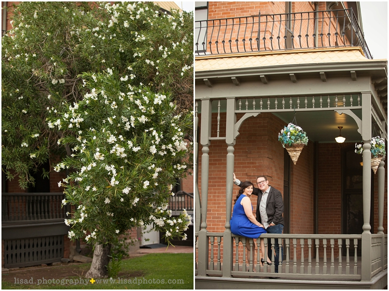 Downtown Phoenix Engagement Session at the Rosson House with Lisa d. Photography