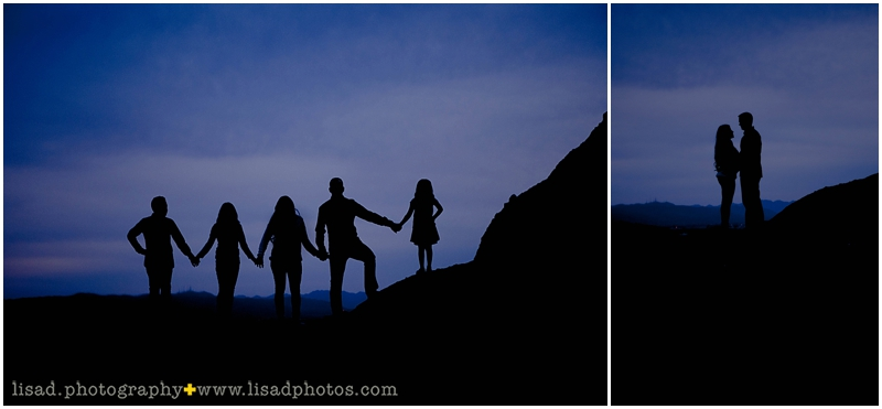 Phoenix Family Photographer | Papago Park | Photographed by Lisa d. Photography | Silhouettes