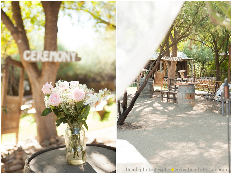 Whispering Tree Ranch Wedding in Laveen, AZ | Lisa d. Photography | Rustic wedding venue